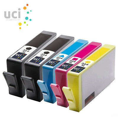 5 Chipped Ink UCI Brand Fits For Hp 364XL Photosmart 5510 3520 5520 5524 7510 • 8.79£