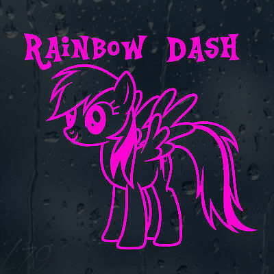 Rainbow Dash My Little Pony Car Decal Vinyl Sticker For Window Bumper Panel • 2£