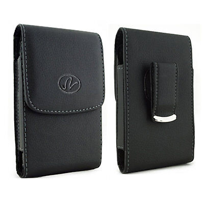 $6.95 • Buy For Samsung Cell Phones Vertical Leather Holster Fits W/ Thin Snap Case On