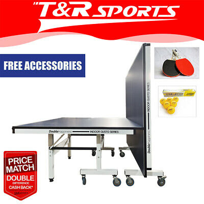 AU797.99 • Buy 25MM PRO SIZE DOUBLE HAPPINESS PING PONG TABLE TENNIS TABLE + Accessory Package