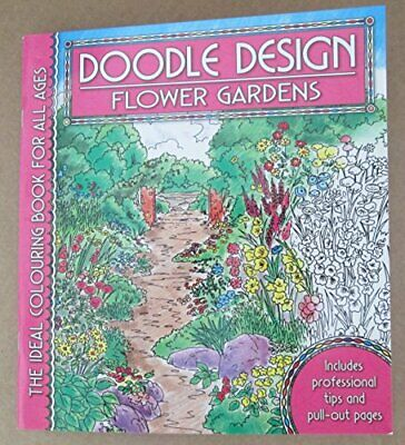 Doodle Design Pad - Flower Gardens By Holland Publishing Paperback Book The • 4.49£