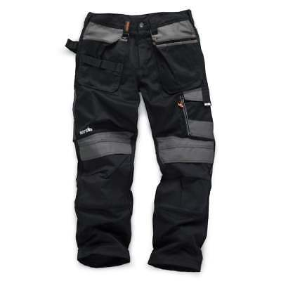 Scruffs Work Trousers 3d Trade Black With Cordura Fabric & Knee Pad Pockets • 33.95£