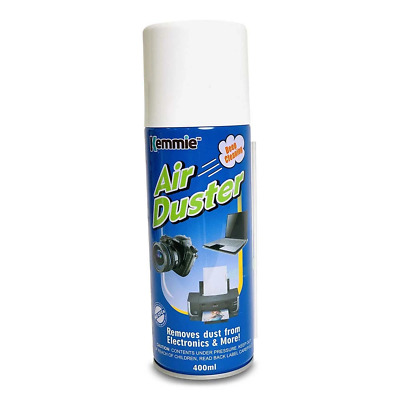 2x 200g Compressed Air Duster Cleaner Pressure Spray Cans Computer PC Keyboard • 11.15£
