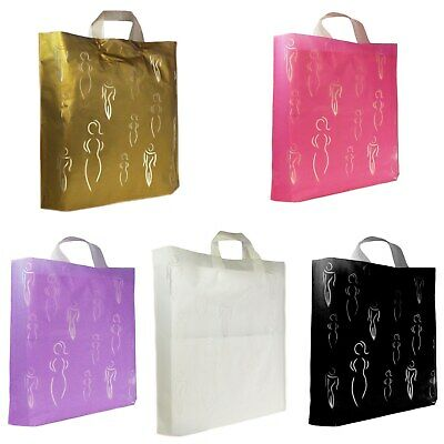 1x25x50x100x Fashion Plastic Gift Bags Sale Bags/Designer Strong Carrier Bags  • 9.99£