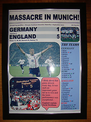 £14 • Buy Germany 1 England 5 - 2001 World Cup Qualifier - Framed Print