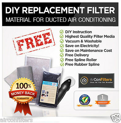 AU25.75 • Buy AirConFilters DIY Kits Return Air Conditioner Filter Material-SELECT YOUR SIZE