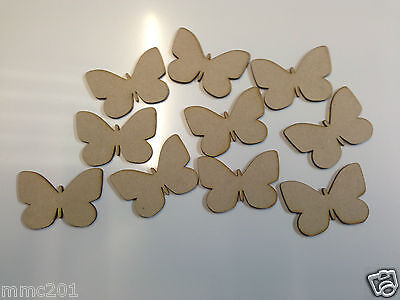 10x Wooden MDF Butterfly Shapes • 3.16£