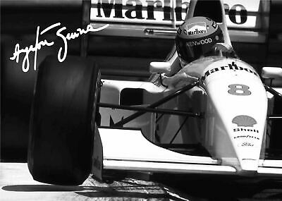 AU24.95 • Buy AYRTON SENNA F1 - Classic Car Poster Picture Print Sizes A5 To A3 *FREE DELIVERY
