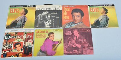 £101.41 • Buy Lot Of 6 1950s Elvis Presley 45 RPM Records With Original Sleeves!