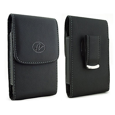 £5.01 • Buy Large Leather Case Holster Fits W/ Otterbox On AT&T LG Phones