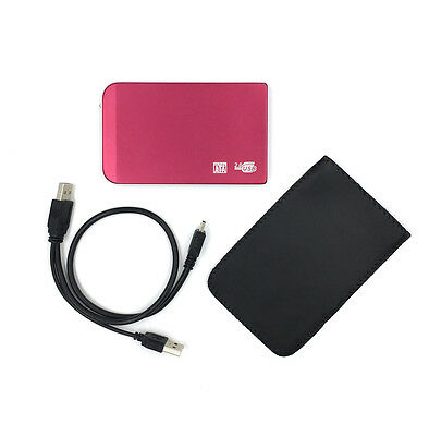 £17.48 • Buy New 250GB External Portable 2.5  USB Hard Drive With Warranty Free Pouch Red