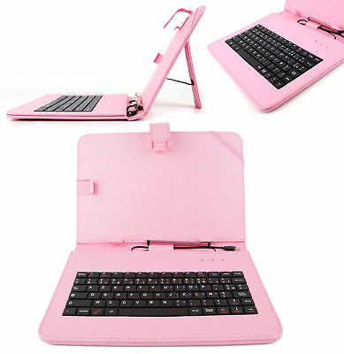 Pink French AZERTY Keyboard Case For Samsung Galaxy Note 10.1 2014 Edition • 14.99£