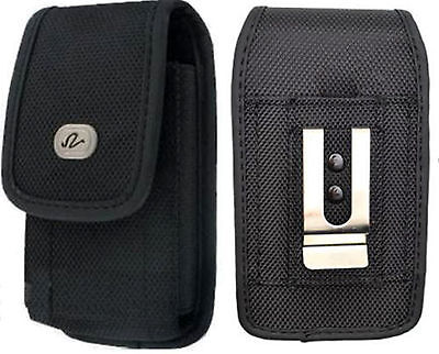 £5.01 • Buy Large Rugged Canvas Case Holster Fits W/ Otterbox On For LG Phones