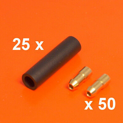 4.7mm Brass Bullet Connectors & Sockets - 75 Pieces Lucas Style Wiring Terminals • 10.50£