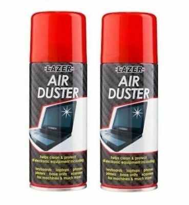 2 X 200ml Compressed Air Duster Spray Can Cleans Protects Laptops Keyboards HLU • 6.99£