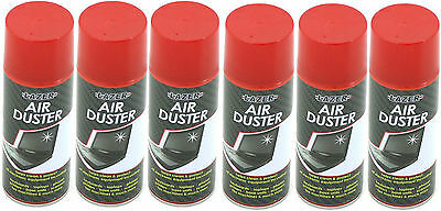 6 X 200ml Compressed Air Duster Spray Can Cleans Protects Laptops Keyboards HLU • 12.99£