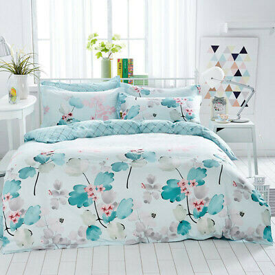 AU45 • Buy Single/Double/Queen/King Size Bed Quilt/Doona/Duvet Cover Set 100% Cotton-Dream
