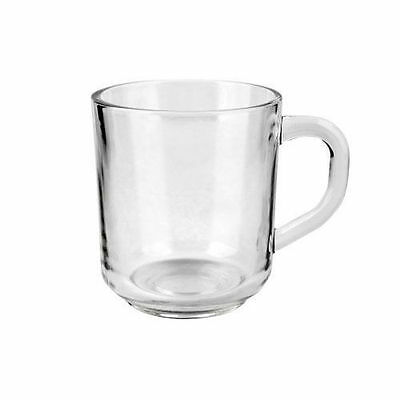 Set Of 6 Tea Coffee Cappuccino Hot Drink Glasses Cups Glass Mugs Brand New • 10.99£