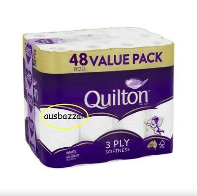 AU39.88 • Buy 48x Quilton Toilet Paper Tissue Rolls 3-Ply 180 Sheets - Free Postage Best Price