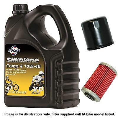 BMW HP 2 Megamoto 2007 Silkolene Comp 4 XP Oil And Filter Kit • 37.50£