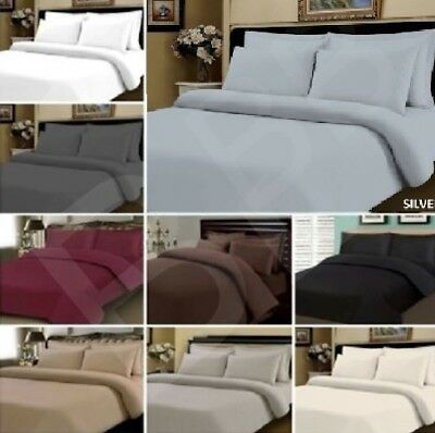 £14.92 • Buy Egyptian Cotton 500 Thread Count Duvet Cover Set / Fitted Sheet Bedding