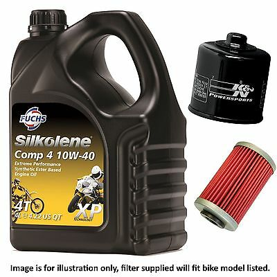 Kawasaki ZX-6R ZX600J2 2001 Silkolene Comp 4 XP Oil And K&N Filter • 38.99£