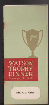 IBM International Business Machines Watson Trophy Dinner Program 1963 • 10.84£