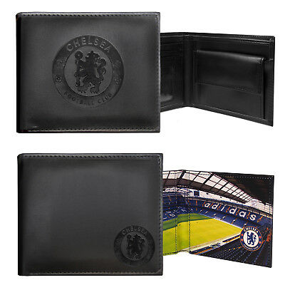 Chelsea FC Official Football Gift Embossed Crest Wallet Black • 9.99£