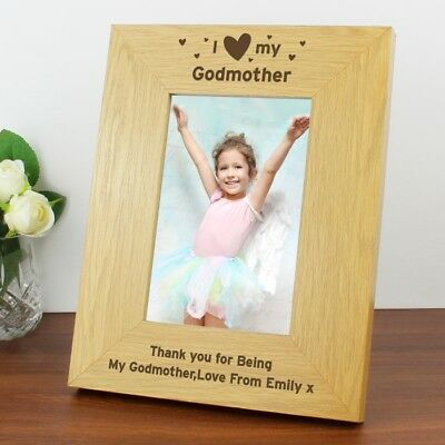 £13.99 • Buy GIFT IDEA FOR GODMOTHER GODPARENTS Personalised Photo Frame Christening Present