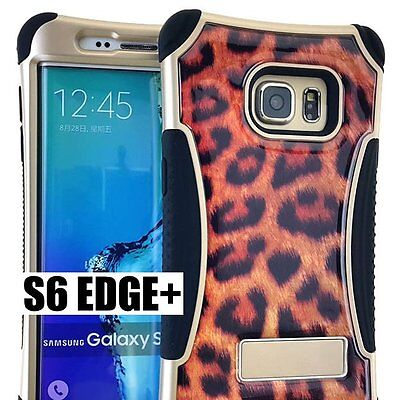 $ CDN10.60 • Buy For Samsung Galaxy S6 Edge+ Plus - HYBRID SKIN CASE BROWN LEOPARD CHEETAH ARMOR