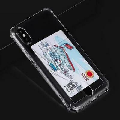AU12.95 • Buy Clear Anti Shock TPU With Card Slot Case For IPhone 7/8/IPhone11 Pro /iPhone 12