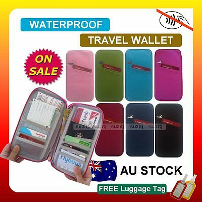 AU13.99 • Buy RFID Anti Scan TRAVEL WALLET PASSPORT HOLDER DOCUMENT Bag Credit Card Case New