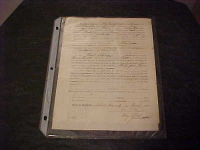 $600 • Buy 1863 Civil War Discharge Autographed Signed By General William Thomas Ward
