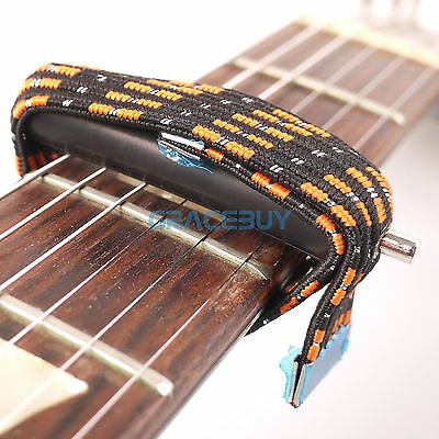 $ CDN9.37 • Buy Elastic Band Capo Multifunctional Flat For Acoustic Classical Electric Guitar