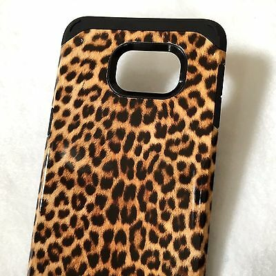 $ CDN10.60 • Buy For Samsung Galaxy S6 Edge+ Plus - HYBRID HARD CASE BROWN BLACK LEOPARD CHEETAH