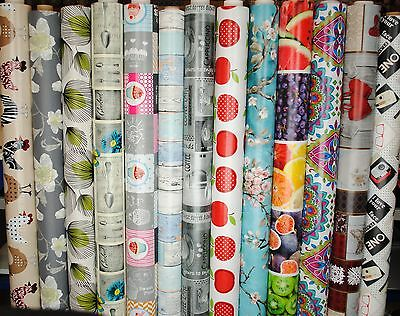 Wipe Clean Tablecloth Oilcloth Vinyl PVC New Designs 140 X 200cm • 12.77£