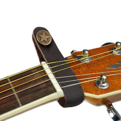 $ CDN7.63 • Buy Genuine Leather Strap Hook Button Brown  For Acoustic / Folk / Classic Guitar