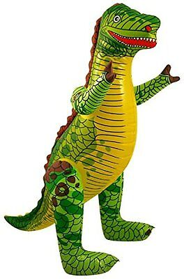£3.30 • Buy Inflatable DINOSAUR - 76CM Tall  Zoo Animal Blow Up Inflate Party Toy -X99037