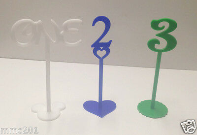 Coloured Plastic Wedding Birthday Table Numbers Various Sizes Syles & Colours • 6.33£