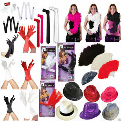 £5.69 • Buy NEW LADIES GANGSTER HAT TIE BRACES FEATHER CHARLESTON FANCY DRESS PARTY 1920's