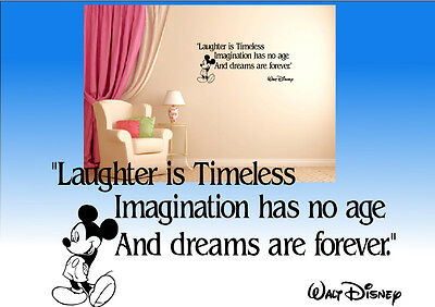 Walt Disney Mickey Mouse Inspired Wall Quote Sticker Decal Wall Art Kids Bedroom • 6.99£