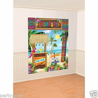 6FT Hawaiian Beach Luau Tropical Party Tiki Bar Wall Scene Banner Decoration  • 7.95£