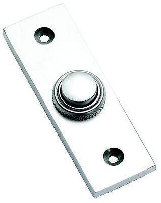 Satin Chrome Rectangular Style Door Bell Push / Switch (SCP35) • 15.95£