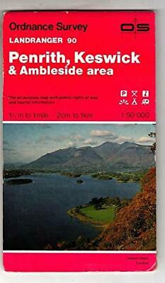 Landranger Maps: Penrith, Keswick And Am... By Ordnance Survey Sheet Map, Folded • 5.99£