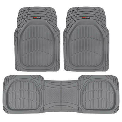 $34.90 • Buy 3pc Front Rear Gray All Weather Deep Dish Heavy Duty Rubber Car Floor Mats