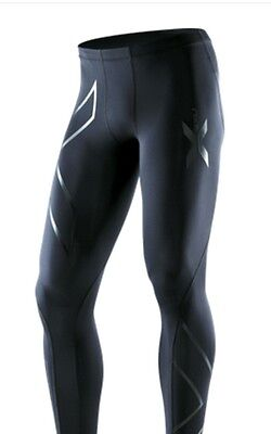 2XU Mens Recovery Compression Tights ( Black / Black ) FREE DELIVERY AUS WIDE! • 101.37£