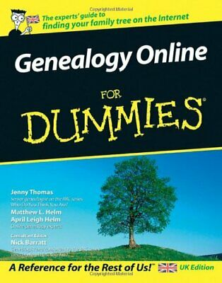 Genealogy Online For Dummies - UK Edition By Barratt, Nick Paperback Book The • 5.49£
