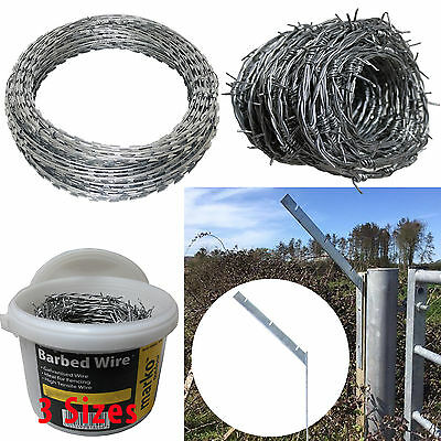 Galvanised / Barbed / Razor Wire Steel Security Fencing Farm Concertina Bracket • 8.99£