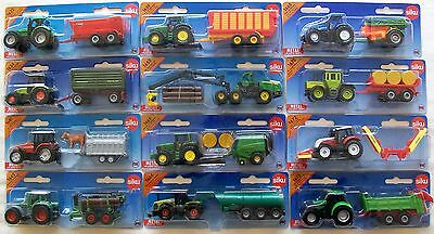 SIKU Blister Carded MINIATURE Farm TRACTORS + TRAILERS Or ACCESSORIES • 10.39£