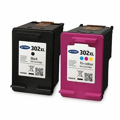 HP 302 XL Ink Cartridges Combo - Black & Colour Ink For HP Envy 4520 Printers • 29.95£